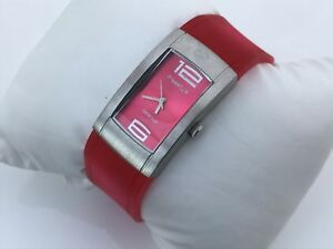 FreeStyle Women Watch Deep Pink Rubber Band 5ATM H2O Japan Movt Design in Cali