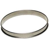 "Gobel Round Tart Ring 3/4"" High, Stainless Steel"