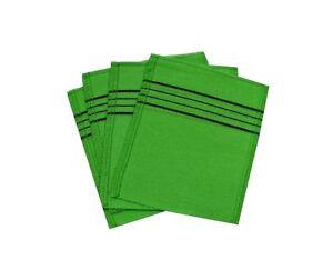 Korean Exfoliating Bath Washcloth [4 pcs] (Green) by TeChef Home Green