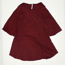 NEW Nelly Aura Fashion Dress with Scoop Neck USA Made Red Large 04534