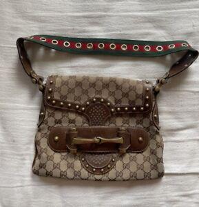Gucci Bag Handbag Shoulder Bag Studded Monogram