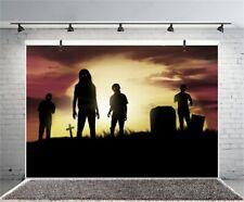 7x5ft Background Graveyard Halloween Zombie Backdrop Studio Photography Props