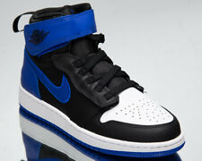 Air Jordan 1 High FlyEase GS Older Kids' Black Hyper Royal White Lifestyle Shoes