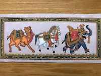 Original Indian Miniature Painting Elephant Animals Rajasthani Handmade Folk Art