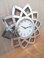 Uhr, Wanduhr heinehome mit Spiegelelementen Ø ca. 60 cm   048440