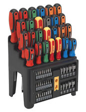 SEALEY SIEGEN TOOLS Screwdriver + Bit + Nut Driver Set 61pce With Storage Rack