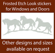 HORSES FROSTED ETCH GLASS SAFETY DOOR WINDOW STICKERS