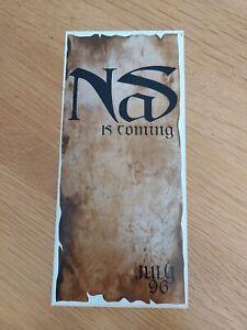 NAS - Vintage IT WAS WRITTEN Promo Flyer/Sticker RARE