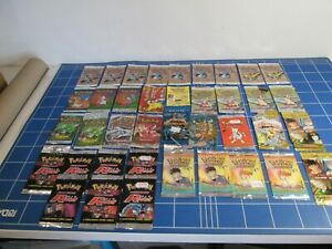 Job Lot 37 x Empty Pokemon Card Packets (no cards) WOTC / Topps