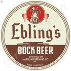 "EBLING'S BOCK BEER 11.75"" ROUND METAL SIGN"