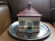 LOVELY SECLA POTTERY HOUSE LIDDED POT made in portugal