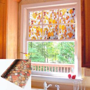 Bagno Finestra Casa Colorato Statica Pellicola Ciottoli Adesivo per Vetro