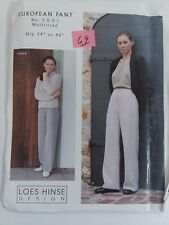 "Loes Hinse Design European Pant Hip 34' to 46"" Sewing Pattern 5001 Uncut"