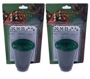 Dice Game cup with Dice - Two Sets Yahtzee Game