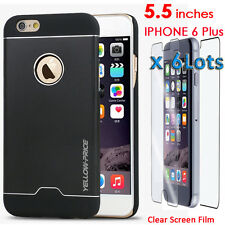 Luxury Aluminum Metal Bumper For iphone 6 Plus+ 6X Front&Black Screen protector
