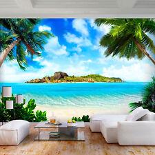 VLIES FOTOTAPETE Strand Palmen Natur Landschaft TAPETE Wohnzimmer WANDBILDER XXL