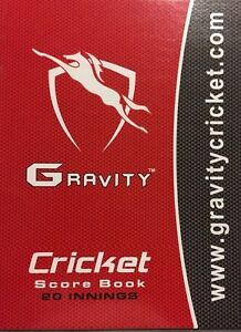 Gravity Cricket Coloured Score Book (80 Innings) + AU Stock + Free Next Day Ship