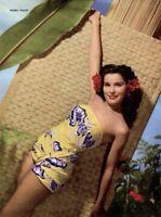 Debra Paget 1952 Vintage Pinup Litho Frank Powolny Photo Publicity Promo COA