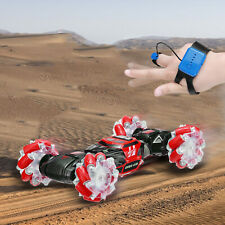 Remote Control Off-Road Stunt Car Gesture Sensing 4WD Double-Sided Twisting Red