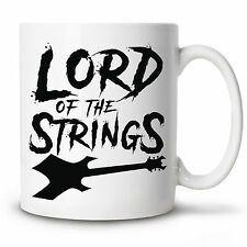 Coffee Mug LORD OF THE STRINGS Novelty Cup 11 oz Funny guitar gift humour music