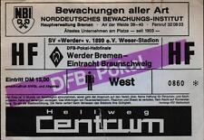 Ticket DFB-Pokal Semi Final 89/90 Werder Bremen - Eintracht Braunschweig