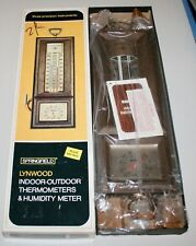 Lynwood Springfield Dual Indoor Outdoor Thermometer & Humidity Meter Weather NIB