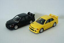 TOMICA PREMIUM ~ MITSUBISHI LANCER GSR EVO III (Black/Yellow) 2 CAR ~ 1/61