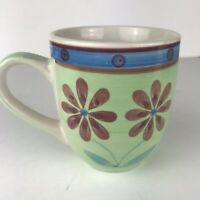Mulberry Home Collection Green With Red Flowers Mug