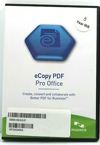Nuance eCopy PDF Pro Office 6 - 5 Year License - With License Key - PDF Creation