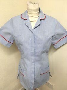 Simon Jersey Hospital Blue stripe - Red Trim Tunics Nurse ,Vets ,Care Assistant