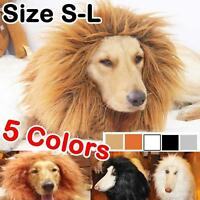Pet Costume Lion Mane Wig Dog Halloween Sanda Clothes Festival Fancy Dress up YD