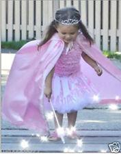 NEW Girl Child PRINCESS satin CAPE Hooded  birthday Halloween Costume pink ⭐