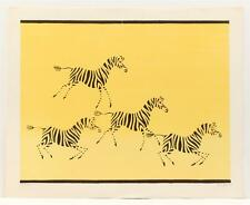Vintage original KEITH llewellyn DE CARLO Zebras animals Lithograph SIGNED #70