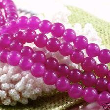 8mm Rose Jade Round Loose Beads Gemstone 15'' AAA