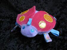 Taggies Kids II Purple Pink Plush Ladybug Crinkle Wings Stuffed Animal Baby Toy