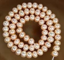 "7X9MM Pink Saltwater Akoya Pearl Loose Beads 15"""