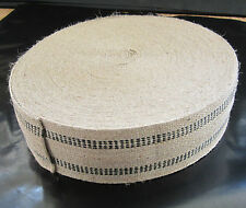 New listing Black Stripe Jute Webbing Auto or Furniture Uphol Supplies Sold by the Yard
