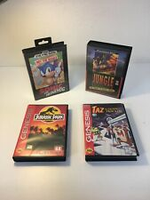 Original Sega Genesis Game Cases, SONIC, Taz, Jungle Strike, Jurassic Cases Only