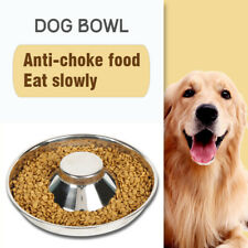 Puppy Dog Pet Cat Litter Stainless Feeder Bowl Dish Food Feeding Weaning S/M/L