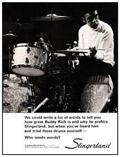 Buddy Rich **LARGE POSTER** Slingerland Drums ad Drum MASTER Big Band Jazz Swing