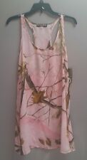 2 REALTREE Women's Racerback Swim Cover-Up Nightgown Camo Size M NWT Pink Green