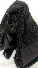 NEW Scarf 100% Cotton Black AND Silver gray. Aussie design. Geometric pattern