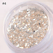 15g/box Shiny Nail Glitter Powder Hexagon Nail Sequins Decoration Tips #4