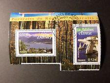 FRANCE 2005, timbres 3814 et 3815 REGIONS, oblitéré 1° JOUR, CANCEL FDC stamps