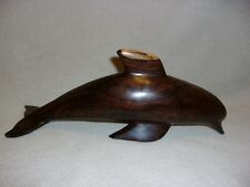 Hand Carved Wooden Dolphin Figurine