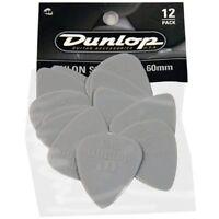 Pack of 12 Gray Dunlop 0.60 mm Nylon Standard Pick plectrum Pack