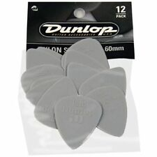 Pack of 12 Gray Dunlop 0.60 mm Nylon Standard Pick plectrum Pack