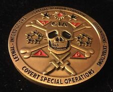 challenge coin  CENTRAL INTELLIGENCE AGENCY  CIA Skull And Cross Bones 2 Inch