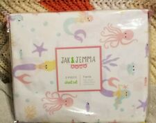 Jak & Jemma * Twin Sheet Set * Mermaids * Star Fish Crabs & More  * 3 Piece Set
