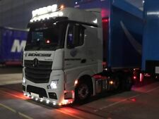 To Fit 2012+ Mercedes Actros MP4 Giga Space Cab Stainless Roof Bar + LED
